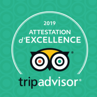 Kinawa : Attestation d'excellence 2019 par TripAdvisor